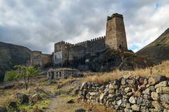 Khertvisi fortress. An ancient fortress in Georgia Stock Images