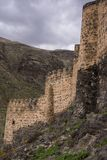 Khertvisi fortress ruins historical caucasus monument. Traveling through Georgia in spring Khertvisi fortress ruins historical caucasus monument royalty free stock image
