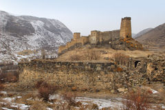 Khertvisi fortress in winter, Georgia Royalty Free Stock Image