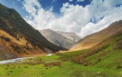 Khevsureti góry Gruzja Zdjęcie Royalty Free