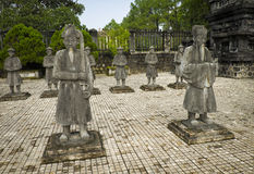 Khia Dinhs Tomb Statues, Hue, Vietnam Royalty Free Stock Photos