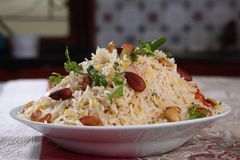 Khichdi. Is a simple and comforting food prepared with lentils and rice. It is wholesome, nutritious, easy to digest and also very easy to prepare Royalty Free Stock Images