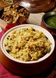 Khichdi vegetal - um prato do arroz feito das lentilhas (dal) Fotografia de Stock