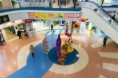 Khimki,俄罗斯- 2月13 2016年 购物中心Liga内部  免版税图库摄影