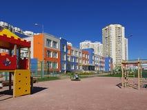 Khimki, Ρωσία - 10 Μαΐου 2018 Γυμνάσιο της γενικής εκπαίδευσης Στοκ Φωτογραφία