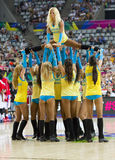 Khimki Dancers cheerleaders. At FIBA World Cup basketball match between Slovenia and Dominican Republic, final score 71-61, on September 6, 2014, in Barcelona Royalty Free Stock Images