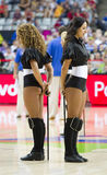 Khimki Dancers cheerleaders. At FIBA World Cup basketball match between Slovenia and Dominican Republic, final score 71-61, on September 6, 2014, in Barcelona Stock Photography
