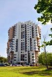 Khimki, Rusland - Mei 30 2017 woon complexe Levoberezhnaya Dubrava Royalty-vrije Stock Afbeeldingen