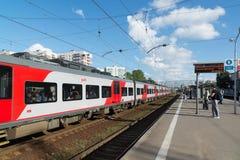 Khimki, Russia-September 03. 2016. Railway platform Kryukovo in Zelenograd Stock Image