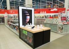 Khimki, Russie - 13 février 2016 Eldorado intérieur est de grands magasins à succursales multiples vendant l'électronique Photographie stock libre de droits