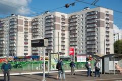 Khimki, wrzesień 03 2016 Stacja kolejowa Kryukovo w Zelenograd Zdjęcia Royalty Free