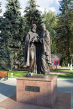 Khimki, wrzesień 03 2016 zabytek St Peter i Fevronia Fotografia Royalty Free