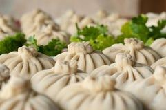 Khinkali, Georgian cuisine stock images