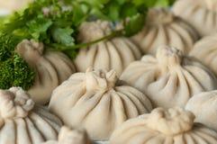 Khinkali, Georgian cuisine stock image