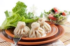 Khinkali Georgian delicioso Imagem de Stock