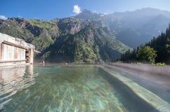 Khir Ganga - Himachal Pradesh, India. Thermal bath at Khir Ganga - India Royalty Free Stock Photography