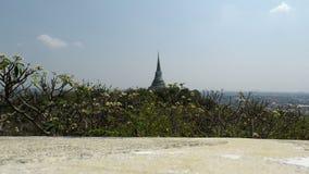 Khiri del nakon di phra del tempio di Phetchaburi video d archivio