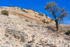 Khirokitia archeologische plaats Cyprus royalty-vrije stock foto