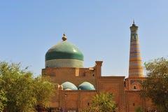 Khiva: cupola e minareto immagine stock