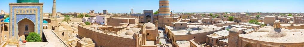 Khiva från taket arkivfoton