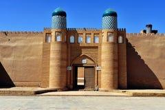 Khiva: härlig båge arkivbild