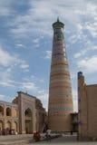 Khiva Islam Khodja Minaret - Uzbekistan. Khiva Islam Khodja Minaret stands in the center of Khiva City Stock Image