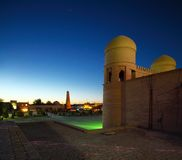 Khiva. Oriental buildings of old city of Itchan Kala. Khiva, Uzbekistan royalty free stock photos
