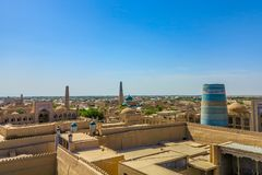 Khiva Oude Stad 44 stock afbeeldingen