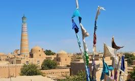Khiva: pequeña ciudad histórica en Uzbekistán foto de archivo libre de regalías