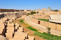 Khiva: pequeña ciudad histórica en Uzbekistán imagenes de archivo