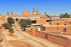 Khiva: pequeña ciudad histórica en Uzbekistán fotos de archivo