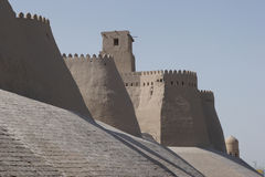 Khiva, Silk Road, Uzbekistan. Wall of the ancient city of Khiva, silk road, Uzbekistan, Central Asia Stock Photography