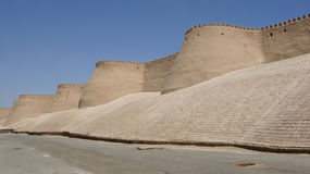 Khiva, Silk Road, Uzbekistan. Wall of the ancient city of Khiva, silk road, Uzbekistan, Central Asia Royalty Free Stock Image
