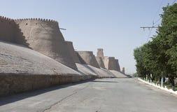 Khiva, Silk Road, Uzbekistan. Wall of the ancient city of Khiva, silk road, Uzbekistan, Central Asia stock photos