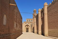Khiva: in the street of town. Khiva: in the street of old town stock photos