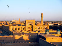 Khiva at sunset stock photo