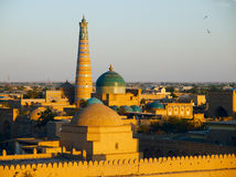 Khiva at sunset. Khiva town at sunset. Uzbekistan royalty free stock photography