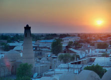 Khiva at sunset Royalty Free Stock Images