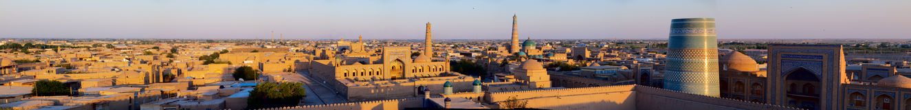 Khiva at sunset Stock Photography