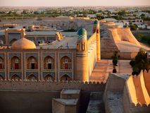 Khiva at sunset. Khiva town at sunset. Uzbekistan royalty free stock photos