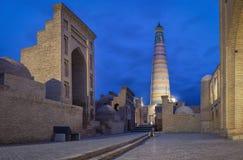 Khiva, Uzbekistan Alminar de Khoja del Islam imagen de archivo libre de regalías