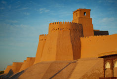 Khiva. Wall of ancient city of Itchan Kala in Khiva town. Uzbekistan royalty free stock image