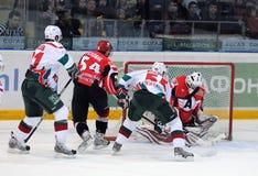 KHL hockey Automobilist vs AK Bars Royalty Free Stock Photo