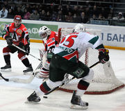KHL hockey Automobilist vs AK Bars Royalty Free Stock Image