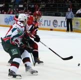 KHL hockey Automobilist vs AK Bars Royalty Free Stock Image