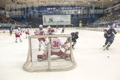 KHL hockey league match Stock Image