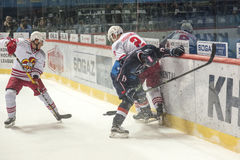 KHL hockey league match Royalty Free Stock Image