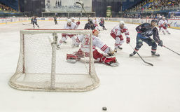 KHL hockey league match Royalty Free Stock Images