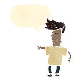 kühles Kind der Retro- Karikatur Lizenzfreie Stockfotografie
