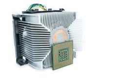 Kühlkörper mit CPU in isometrischem Lizenzfreie Stockfotos